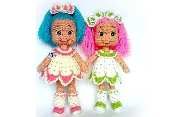 Вязаные крючком куклы — подружки Наташи. Схема