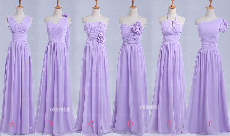 lilac bridesmaid dresses long bridesmaid dresses cheap by okbridal, $126.00