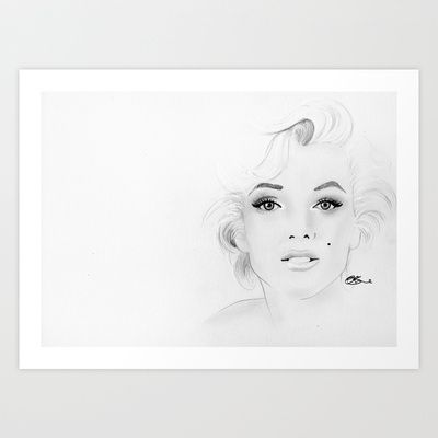 Marilyn Monroe Art Print by Paint The Moment - $17.68