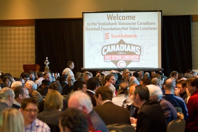 Thank you for all your support at our Hot Stove Luncheon! (Photo: Paul Yates, Vancouver Sports Pictures.)