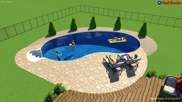 Best 25 semi inground pools ideas on pinterest semi for 16x32 pool design