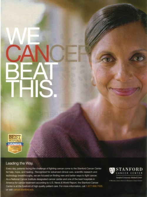 Stanford Cancer Center - More Hospital Print Ads From My Bulletin Board