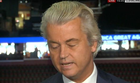 Geert Wilders speaks at RNC Cleveland supporting NEXIT