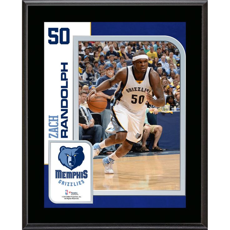 """Zach Randolph Memphis Grizzlies Fanatics Authentic 10.5"""" x 13"""" Sublimated Player Plaque"""