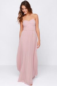 LULUS Exclusive Always Charming Strapless Blush Pink Maxi Dress at Lulus.com!