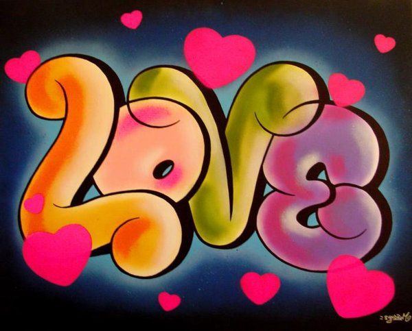 The+Word+Love+in+Bubble+Letters | Graffiti Word Love