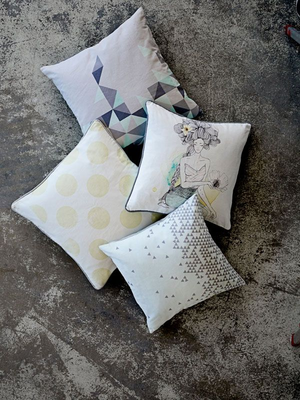cushions from Bloomingville. www.bloomingville.com