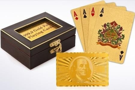 Gold Plated Playing Cards | Hundred Coupons