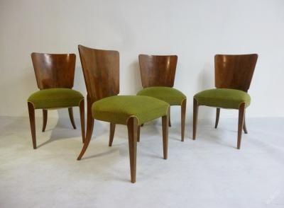 čtyři židle Halabala - H - 214 krásná kořenice четыре стула из дворца!