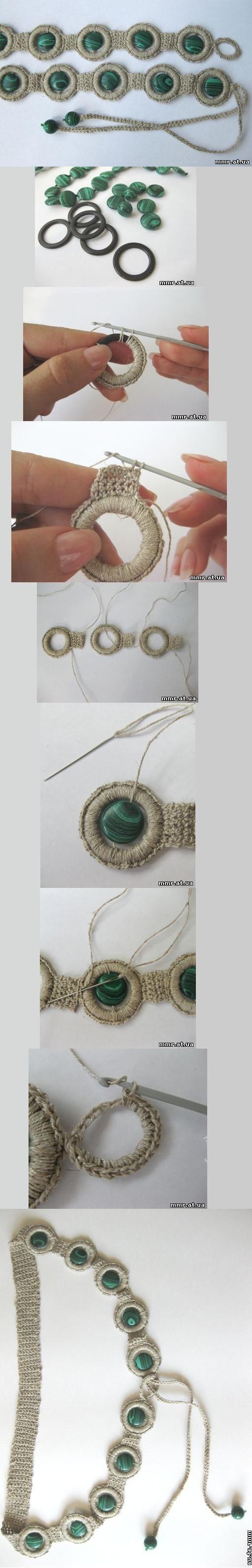 Cinturón de crochet. Tb se puede hacer pulsera