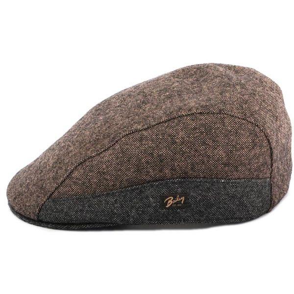Casquette Plate Port Marron et Grise Bailey Le style Bailey sur Hatshowroom.com #casquette #chapeau #bonnet