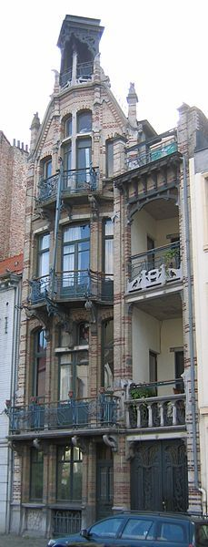 ¤ Art Nouveau architecture by Gustave Strauven. Maison Van Dyck in Brussels, Belgium