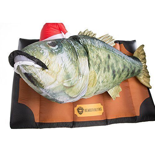 Big Mouth Billy Bass Christmas INFLATABLE Outdoor Dispaly Singing Fish Animated #Gemmy