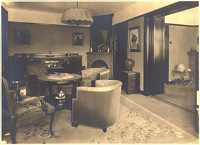 Ca 1935 interieur philips woning woensel west huis for Interieur 1930