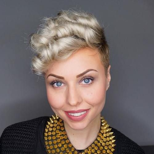Very Short Curly Prom Hairstyle