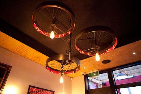 The Pedal Pusher: a quirky bicycle themed restaurant in Christchurch