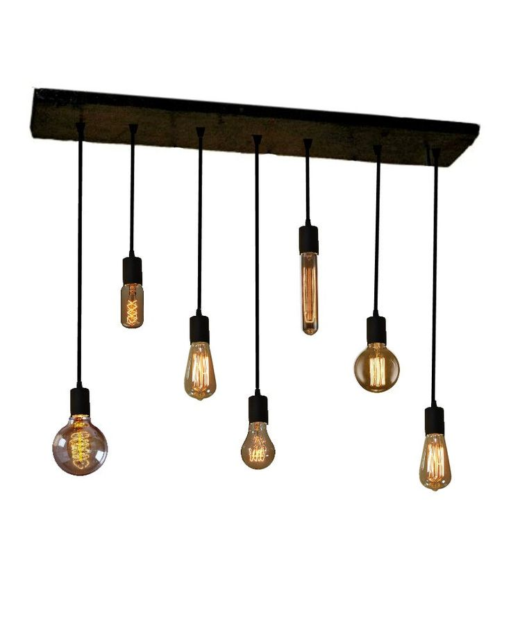 7 pendant industrial chandelier edison bulb pendant lights for Industrial bulb pendant