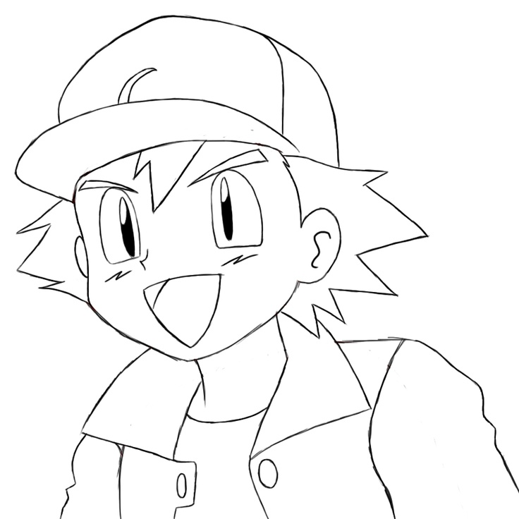 How to draw ash ketchum black and white dresses