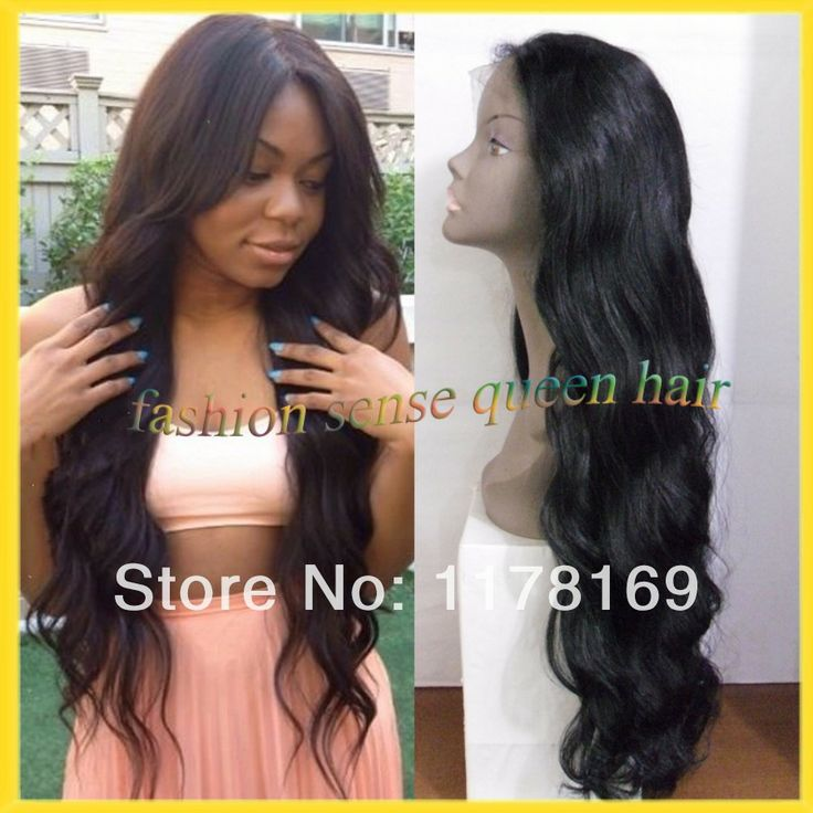 Unprocessed wigs long black virgin brazilian human hair body wave lace front wig with baby hair natural hairline for black women $125.00 - 236.00