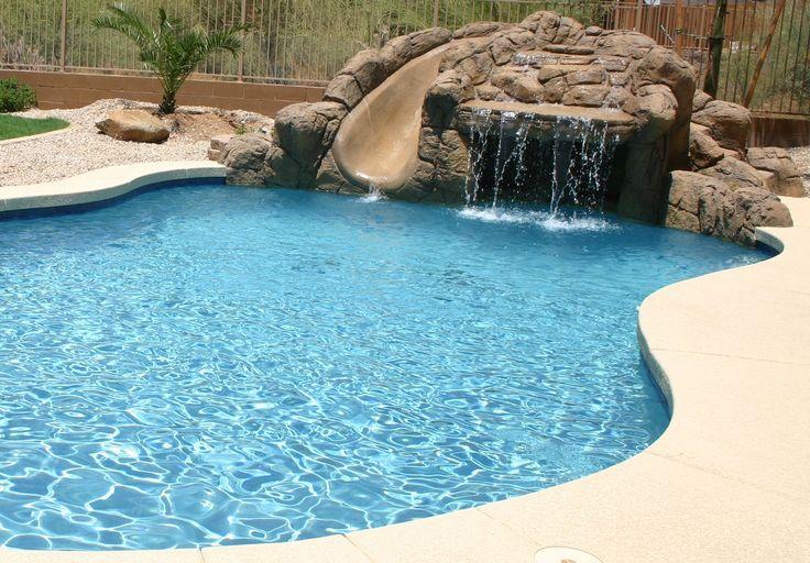 Aqua blue pebble sheen interior dolphin pools construction phoenix pool builder pinterest - Pool and blues ...