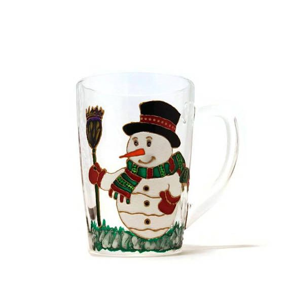 Snowman Mug Christmas Mug Gift for Christmas Hand painted