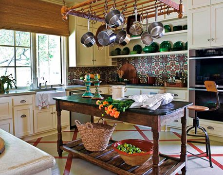 Mexican kitchen:  or like the tiles on this kitchen walls.