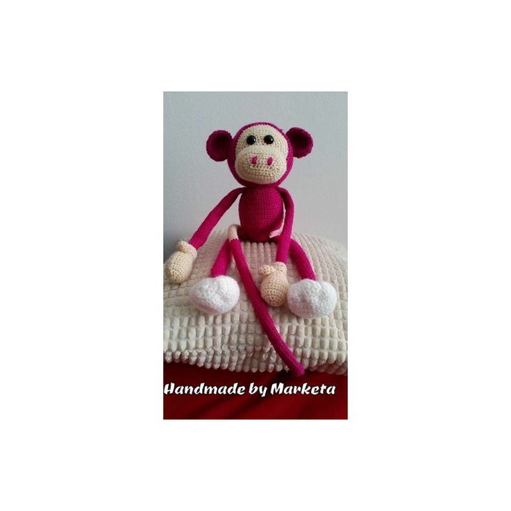 Opička - Opička může být v různých barvách. Veliká cca 25cm  | vavavu