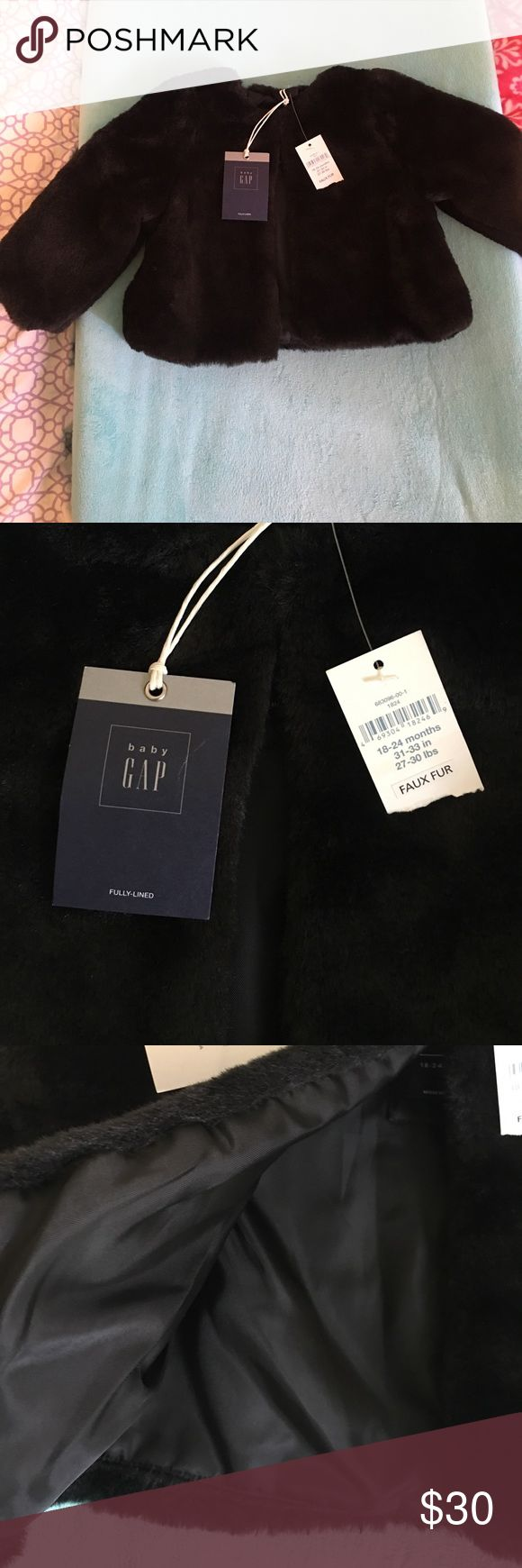 NWT Baby Gap faux fur shrug NWT, Gorgeous, brand new faux fur shrug from Baby Gap. Fully lined and perfect for the Holidays GAP Jackets & Coats Capes