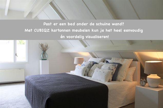 De potentie van een ruimte laten zien mbv low budget kartonnen meubelen. Meer slaapkamer voorbeelden zien? http://stylingxl.nl/portfolio-item/slaapkamers/ #huisverkopen