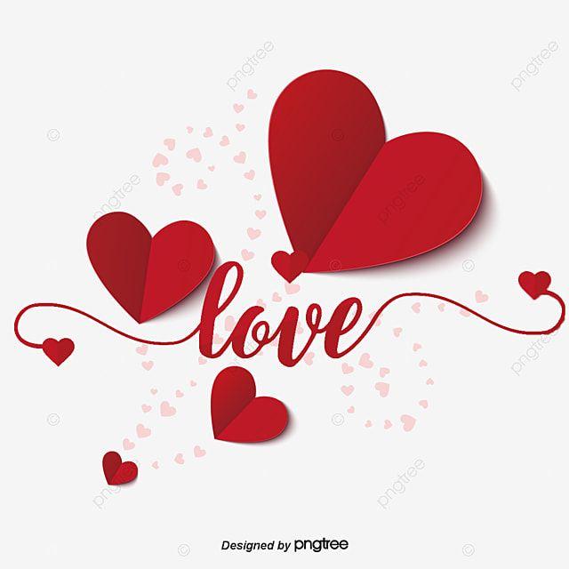 Rojo Amor Origami Elementos Del Dia De San Valentin Clipart Rojo En Forma De Corazon Amante Png Y Psd Para Descargar Gratis Pngtree Valentines Day Drawing Happy Valentines Day Clipart