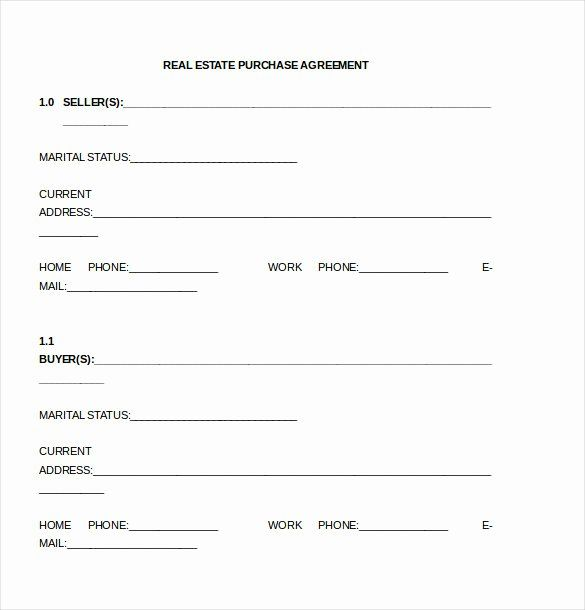 Estate Sale Contract Template In 2020 Purchase Agreement