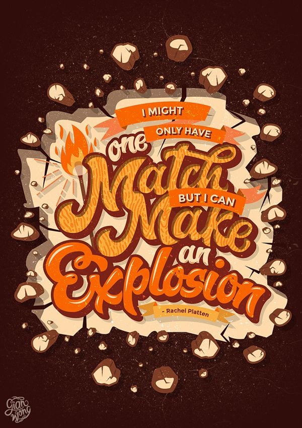 28 Remarkable Lettering & Typography Designs for Inspiration - 20