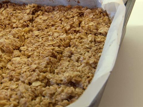 How to make the perfect flapjack (oat bars). I added cranberries and dried apricots.