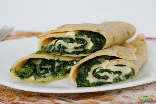 Palačinky se špenátem a mozzarellou – JÍME CHYTŘE – Odborné výživové poradenství – Recepty