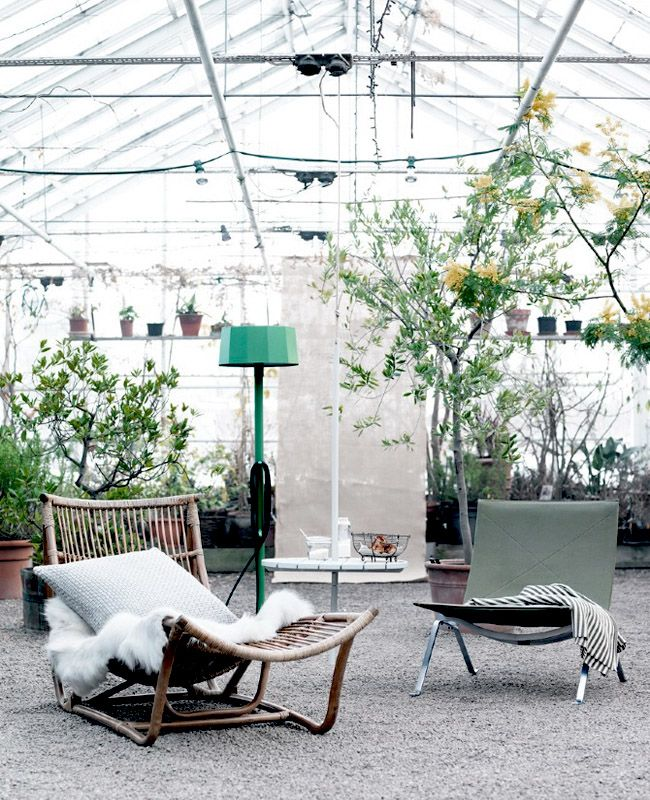 green house lounging
