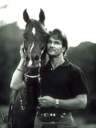 WOW THAT IS A GORGEOUS PHOTO. SO SAD HE HAS PASSED.  HE LOOKS LIKE HE LOVED HORSES VERY MUCH. Patrick Swayze