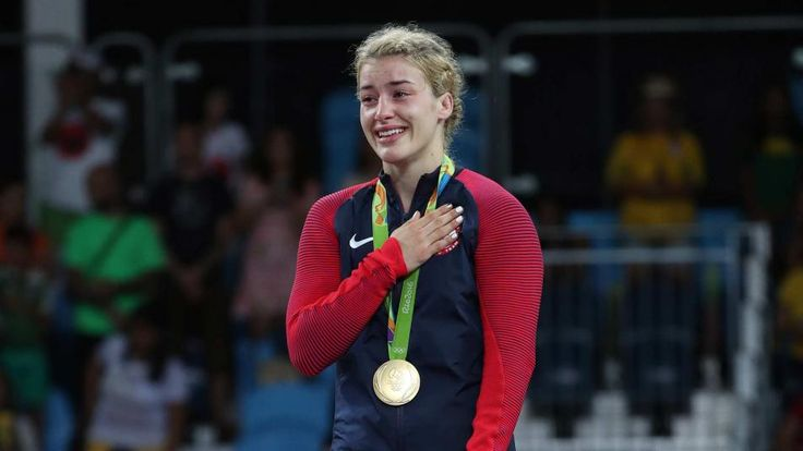 The first ever gold medal for the U S in women's wrestling - Maroulis defeated wrestling's most decorated athlete to win 53kg gold