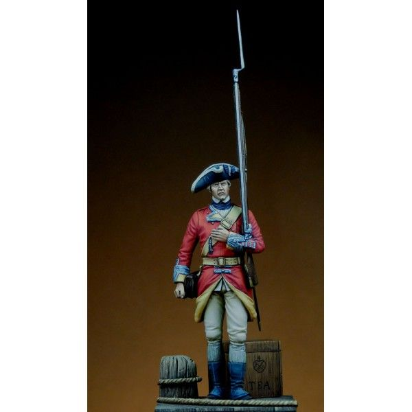 Private, 29th Regiment of Foot. American Independence War. Boston 1768-1771 - Art Girona White Metal Figures