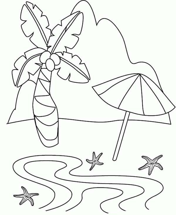 Beach Vacation A Simple Drawing Of Tropical Beach Island Coloring Page A Simple Drawing Of Tro Summer Coloring Pages Beach Coloring Pages Free Coloring Pages