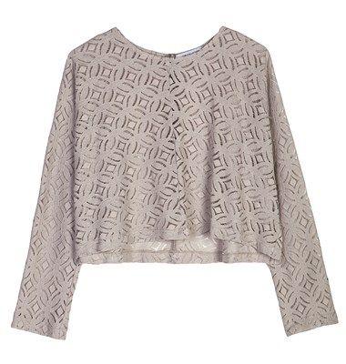 Lace longsleeve blouse