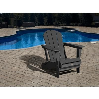 Leisure line chaise adirondack 3 4 charbon gris for Chaise adirondack canadian tire