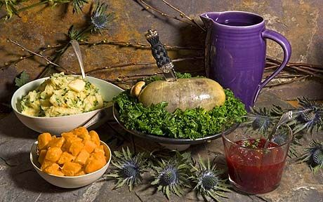 Robert Burns believed in sharing simple, wholesome food - so you can't go   wrong with haggis