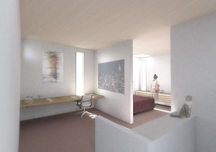 Infill House bedroom