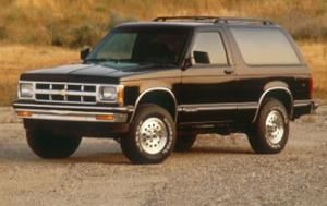 Chevrolet S10 Blazer- had a light blue one and a red one