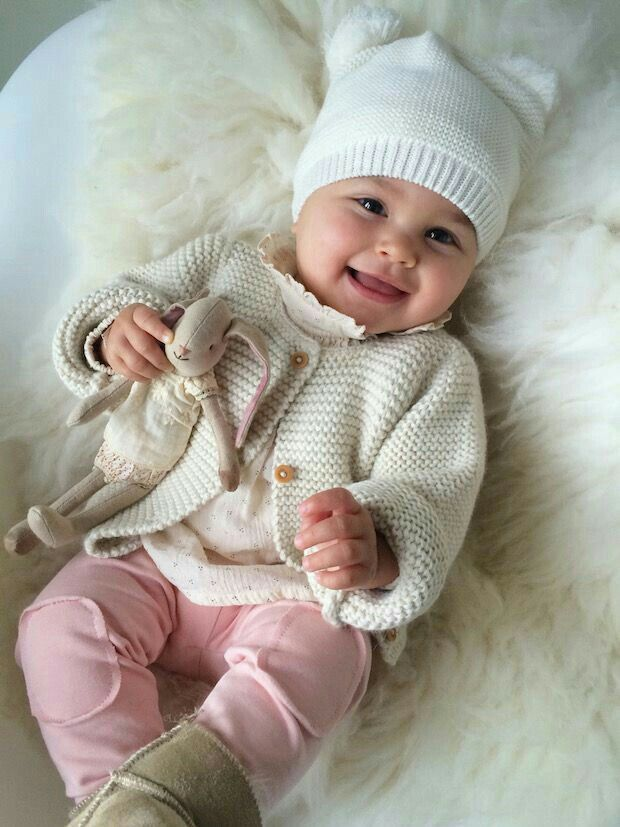 A smiley and beautiful little baby girl!