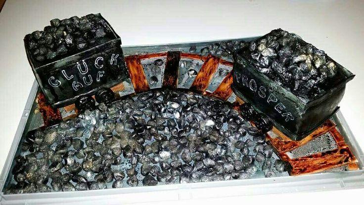Kohle Aschenstreifen Bergbau