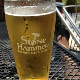 "Stone Hammer Light on Untappd... ""Perfect for this hot, hot day!"""