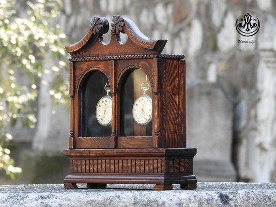 Wooden HandMade Double Pocket Watch Case & by SpecialWoodwork