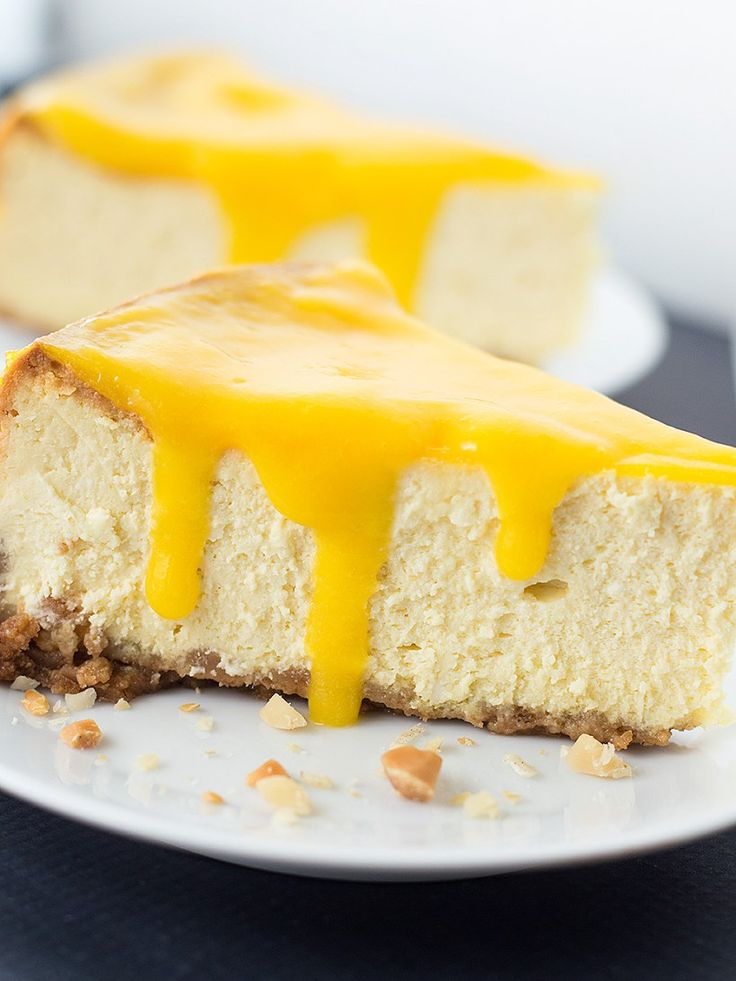 Mango Cheesecake with Macadamia Nut Crust that's creamy, that didn't ...