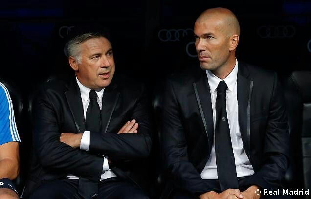 Ancelotti y Zidane